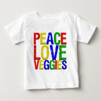 Peace Love Veggies Baby T-Shirt