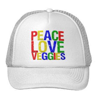 Peace Love Veggies Trucker Hat