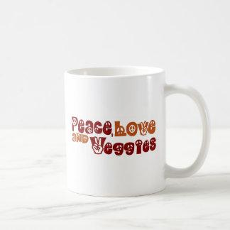 Peace Love Veggies Coffee Mugs