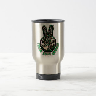 Peace Love Veggies Travel Mug