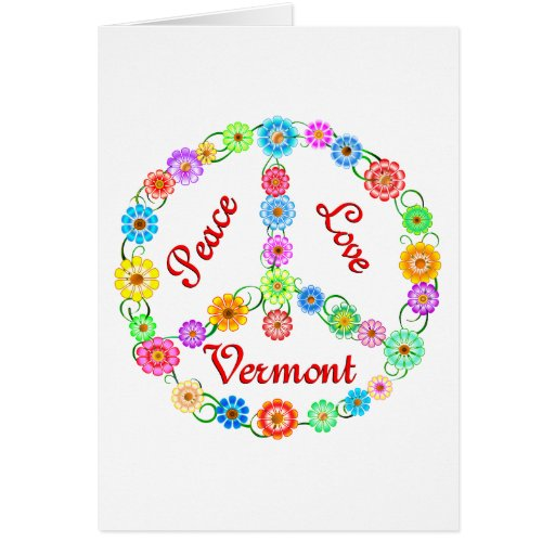 Peace Love Vermont Greeting Cards
