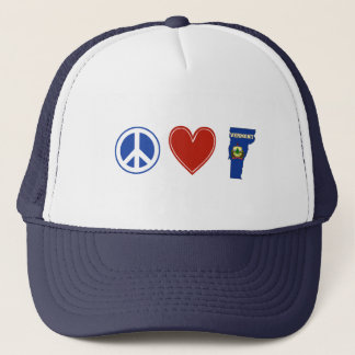 Peace Love Vermont Trucker Hat