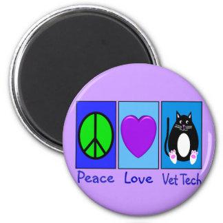 Peace Love Vet Tech Magnet