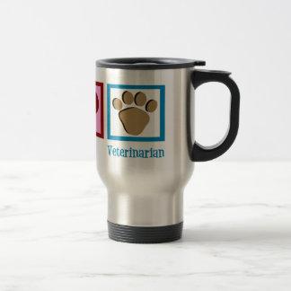Peace Love Veterinarian 15 Oz Stainless Steel Travel Mug
