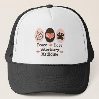 Peace Love Veterinary Medicine Hat