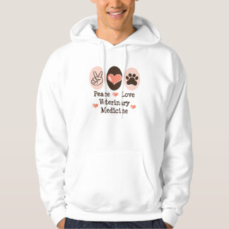 Peace Love Veterinary Medicine Hooded Sweatshirt