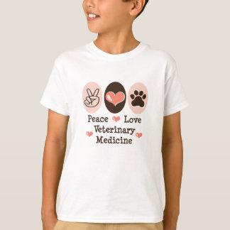 Peace Love Veterinary Medicine Kid T shirt