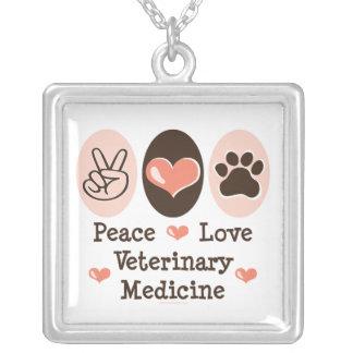 Peace Love Veterinary Medicine Necklace