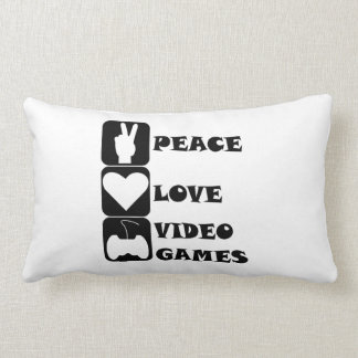 Peace Love Video Games Pillow