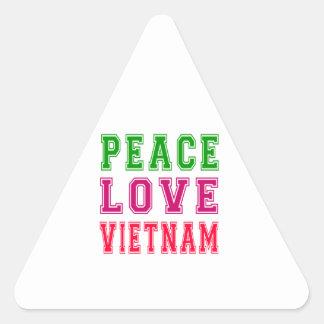 Peace Love Vietnam. Triangle Sticker