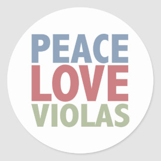 Peace Love Violas Stickers