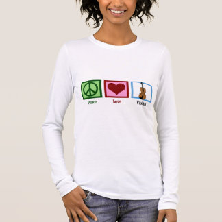 Peace Love Violin Long Sleeve T-Shirt