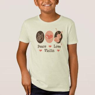 Peace Love Violin Organic T shirt