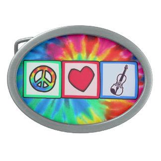 Peace, Love, Violins Belt Buckles