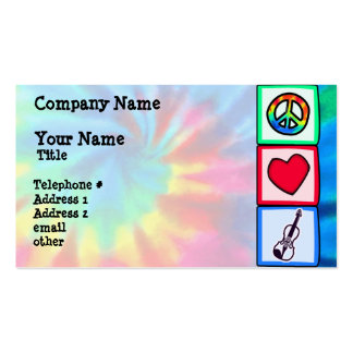 Peace, Love, Violins Double-Sided Standard Business Cards (Pack Of 100)