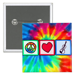 Peace, Love, Violins Pinback Button