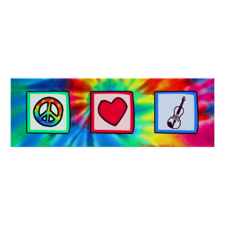 Peace, Love, Violins Poster
