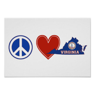 Peace Love Virginia Poster