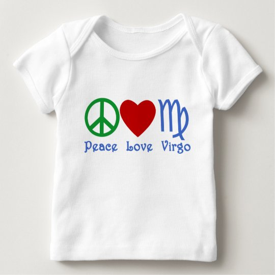 Peace Love Virgo Gifts and Products Baby T-Shirt
