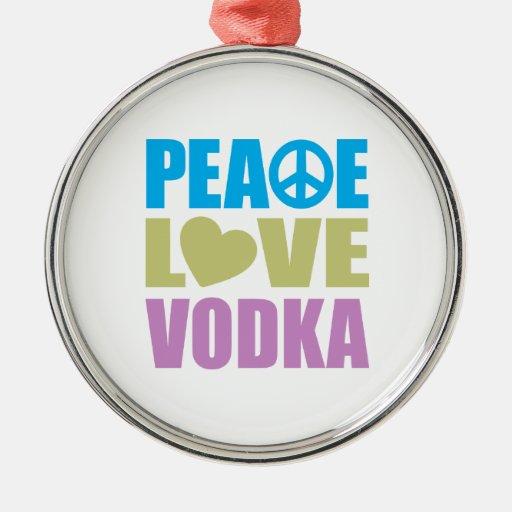 Peace Love Vodka Christmas Tree Ornaments