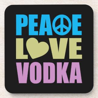 Peace Love Vodka Drink Coaster
