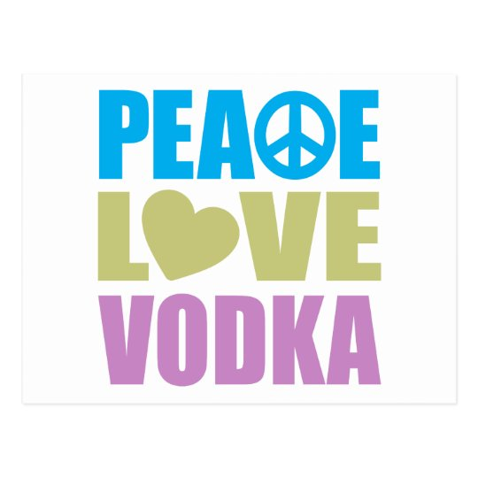 Peace Love Vodka Postcard