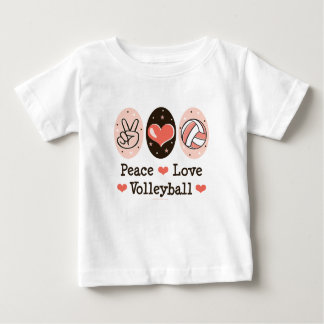 Peace Love Volleyball Baby T shirt