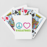 Peace Love Volleyball Bicycle Card Decks