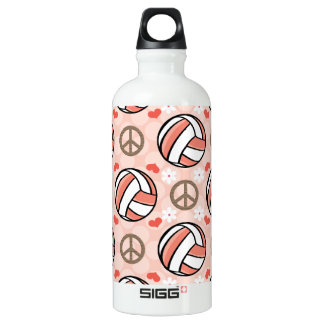 Peace Love Volleyball BPA Free Water Bottle