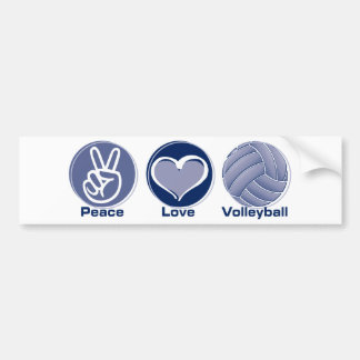 Peace Love Volleyball Bumper Stickers