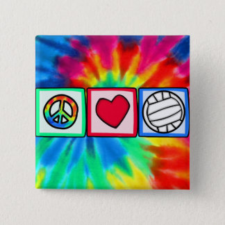 Peace, Love, Volleyball Button