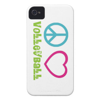 Peace Love Volleyball iPhone 4 Case-Mate Cases