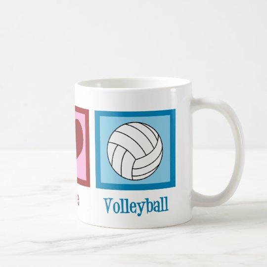 Peace Love Volleyball Coffee Mug