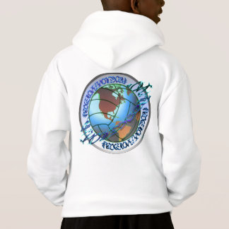 Peace, Love, Volleyball & Earth Hoodie