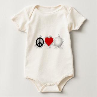 Peace Love Volleyball  Emblem 1 Baby Bodysuit