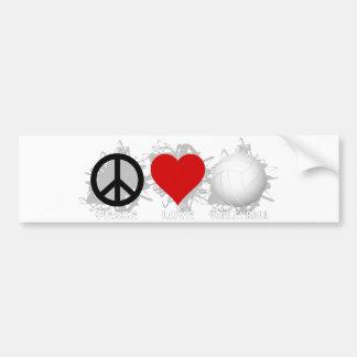 Peace Love Volleyball  Emblem 1 Bumper Sticker