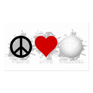Peace Love Volleyball Emblem 1 Business Card