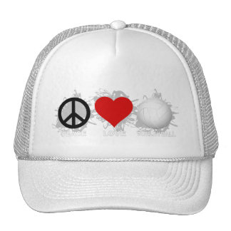 Peace Love Volleyball  Emblem 1 Hats