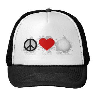 Peace Love Volleyball  Emblem 1 Trucker Hat