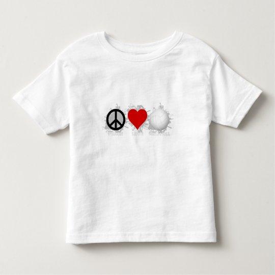 Peace Love Volleyball  Emblem 1 Toddler T-shirt