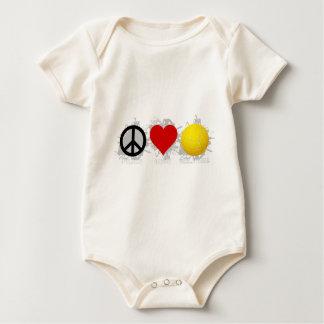 Peace Love Volleyball  Emblem 2 Baby Bodysuit