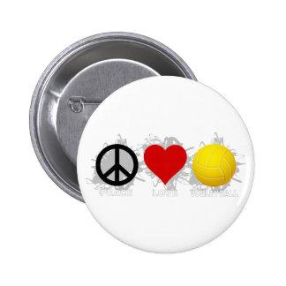 Peace Love Volleyball  Emblem 2 Pins