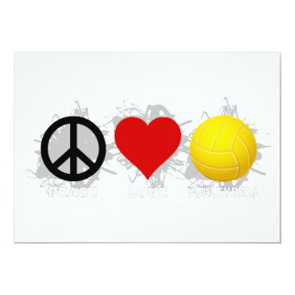 Peace Love Volleyball  Emblem 2 Card