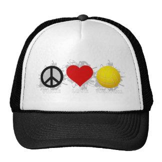 Peace Love Volleyball  Emblem 2 Mesh Hat
