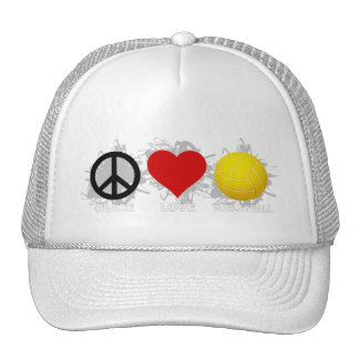 Peace Love Volleyball  Emblem 2 Hat