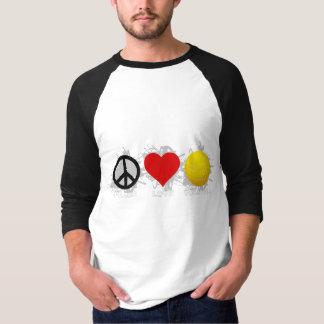 Peace Love Volleyball  Emblem 2 T-shirt