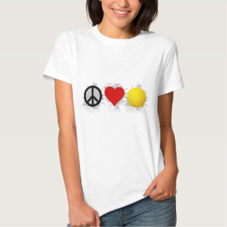 Peace Love Volleyball  Emblem 2 T Shirt