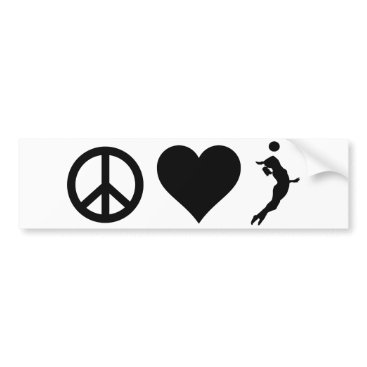 Beach Themed Peace Love Volleyball (Female) Bumper Sticker
