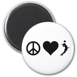 Peace Love Volleyball (Female) Magnet