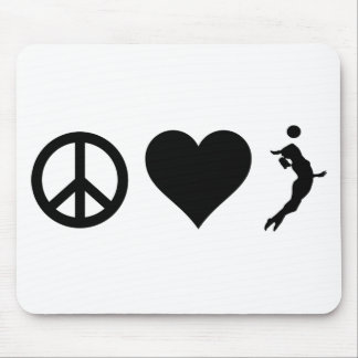 Peace Love Volleyball (Female) Mouse Pad